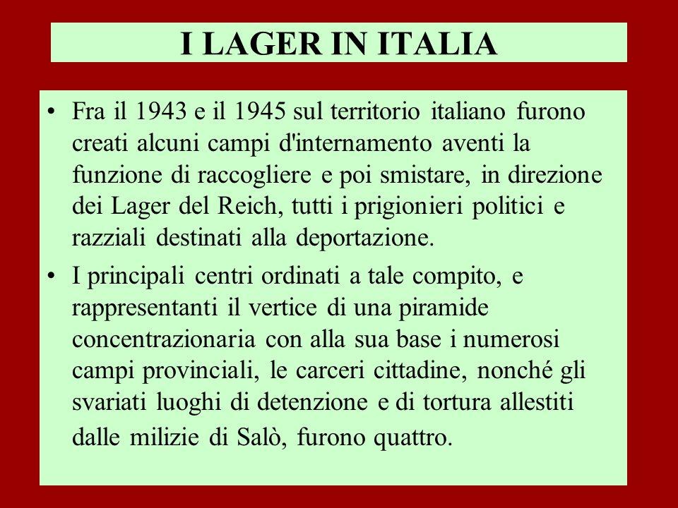 I LAGER IN ITALIA