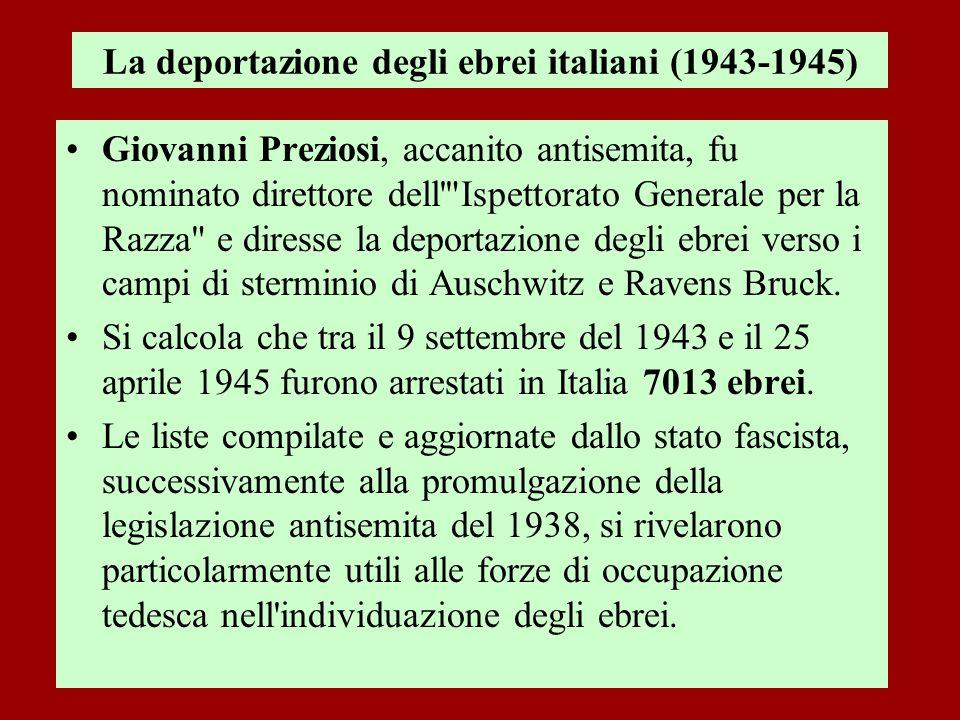 La deportazione degli ebrei italiani (1943-1945)