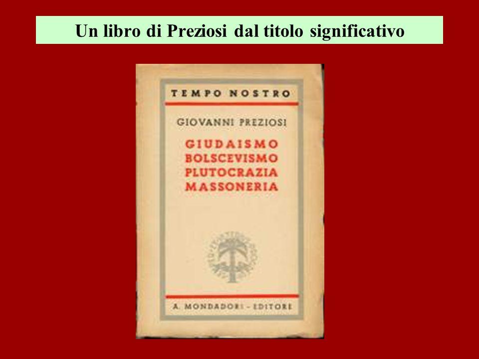 Un libro di Preziosi dal titolo significativo