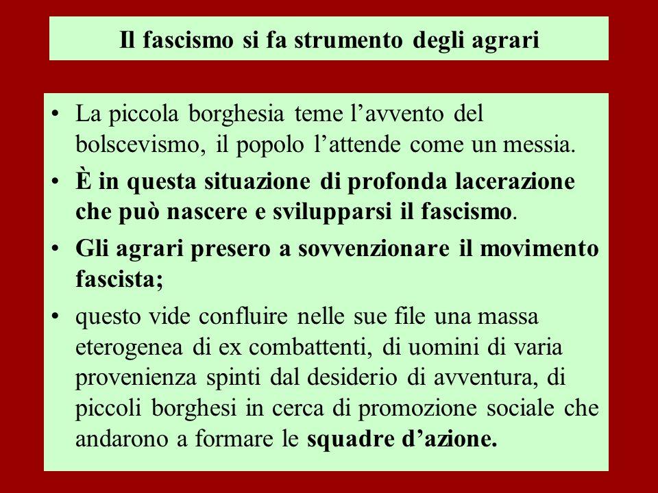 Il fascismo si fa strumento degli agrari