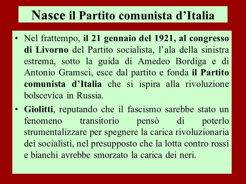 Nasce il Partito comunista d'Italia