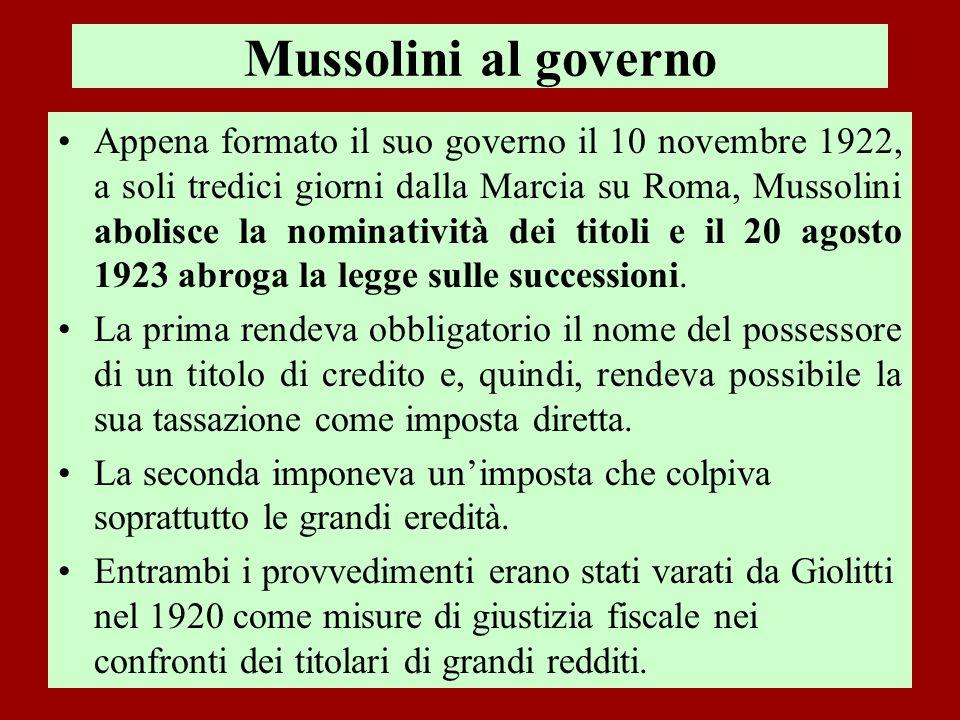 Mussolini al governo