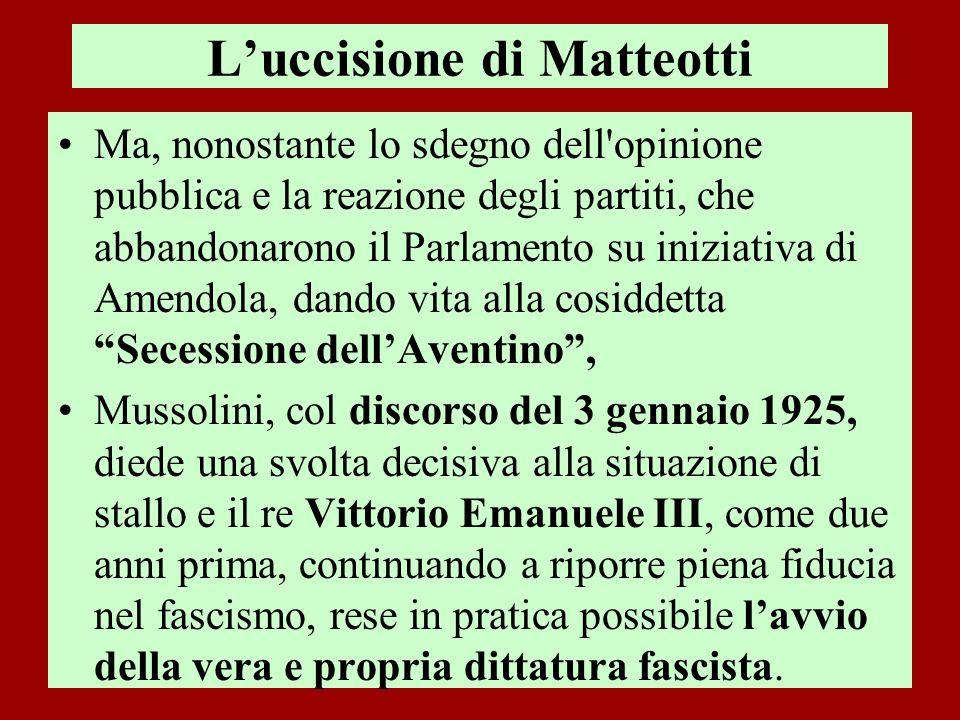 L'uccisione di Matteotti
