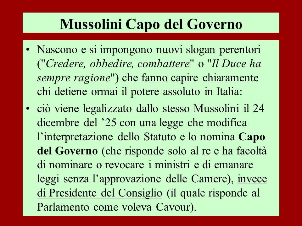 Mussolini Capo del Governo