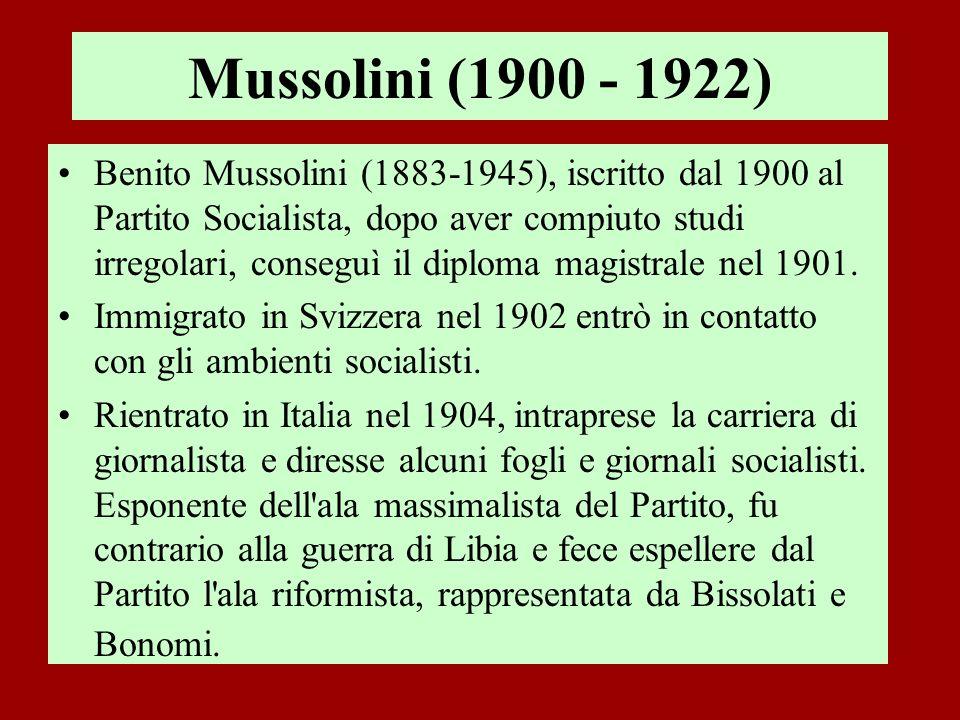 Mussolini (1900 - 1922)