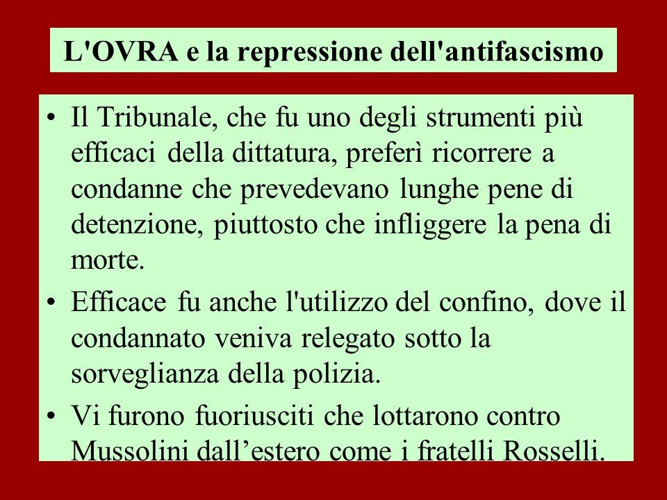 L OVRA e la repressione dell antifascismo