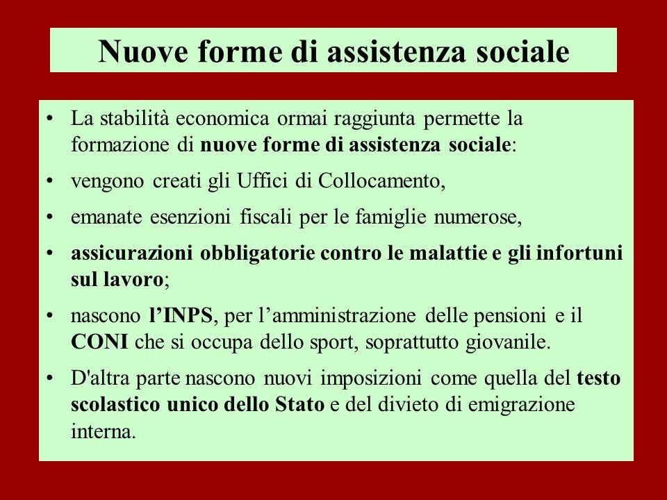 Nuove forme di assistenza sociale