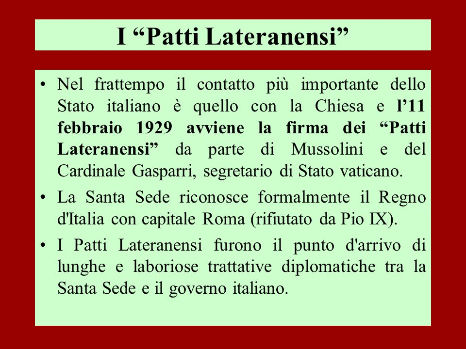 I Patti Lateranensi