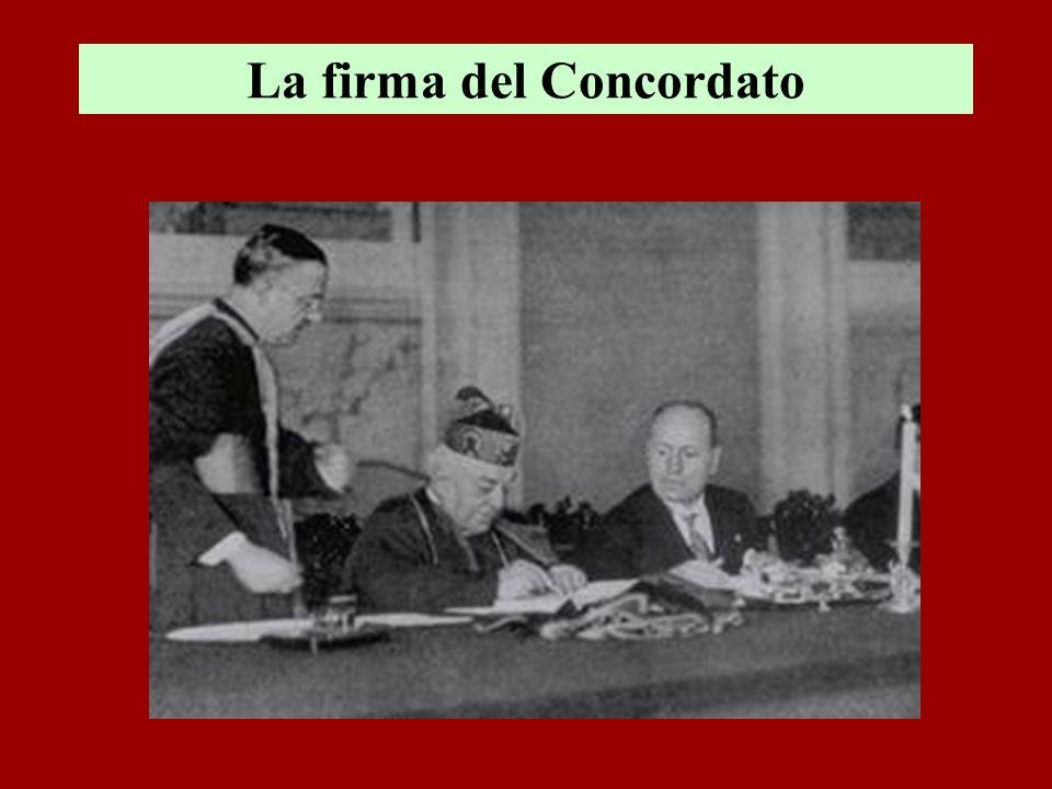 La firma del Concordato