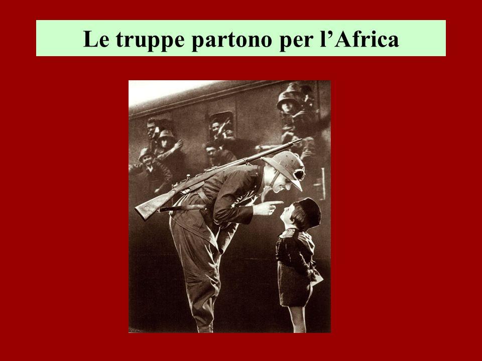 Le truppe partono per l'Africa