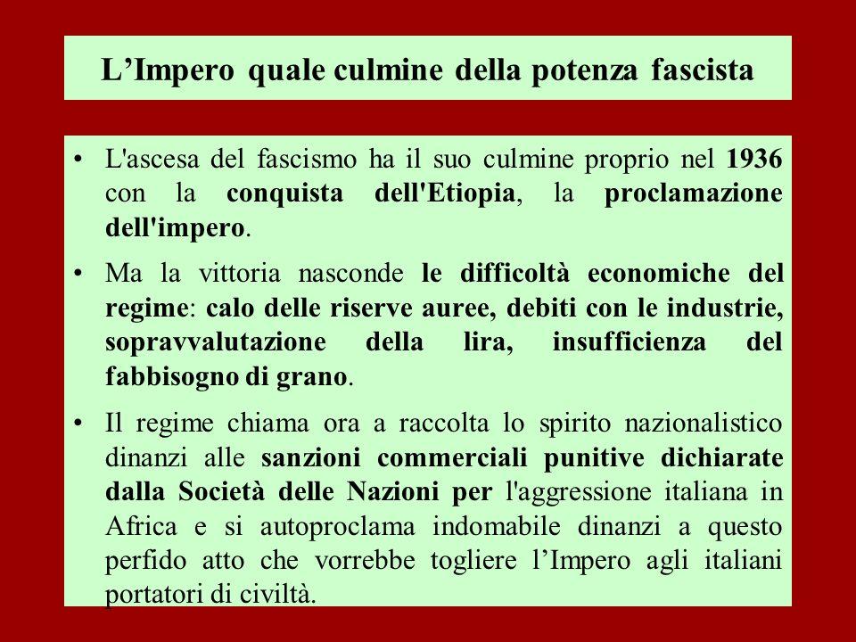 L'Impero quale culmine della potenza fascista