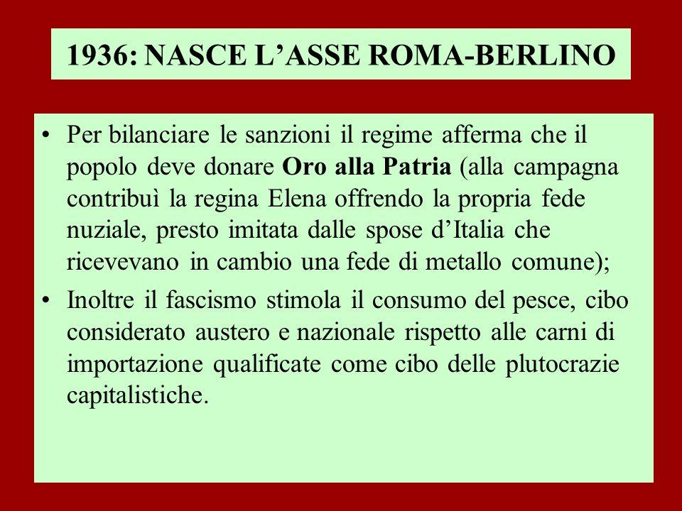 1936: NASCE L'ASSE ROMA-BERLINO