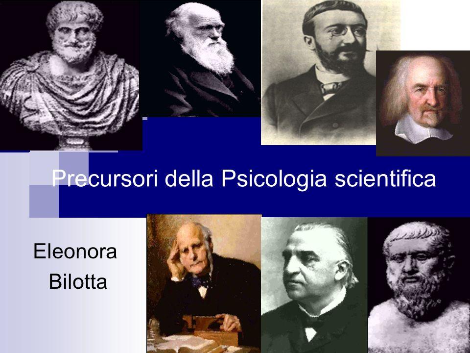 Precursori della Psicologia scientifica