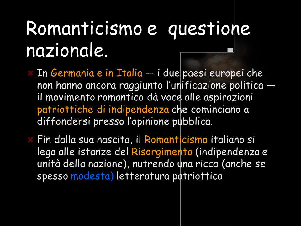 Romanticismo e questione nazionale.