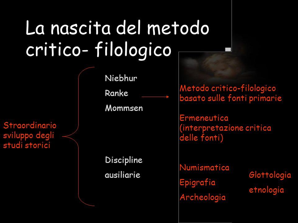 La nascita del metodo critico- filologico