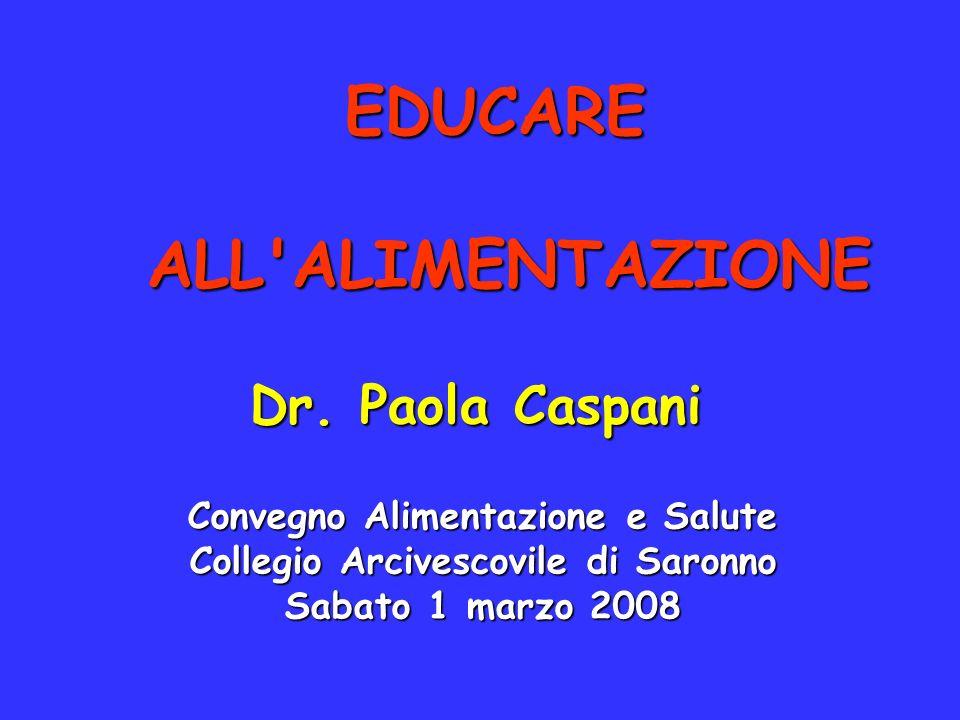 EDUCARE ALL ALIMENTAZIONE
