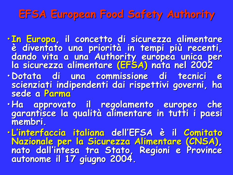EFSA European Food Safety Authority