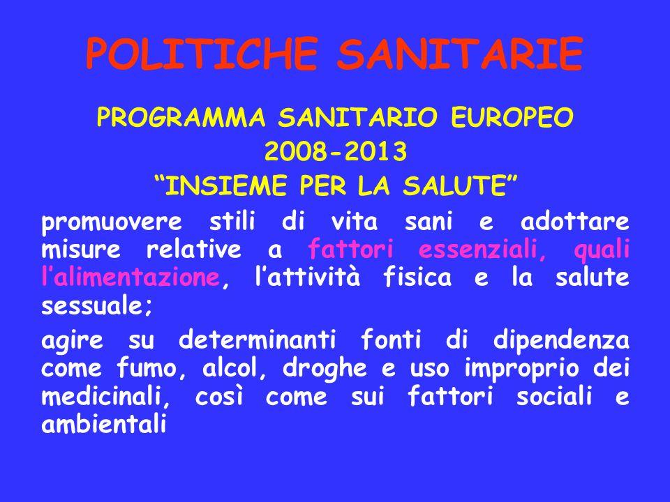 PROGRAMMA SANITARIO EUROPEO INSIEME PER LA SALUTE