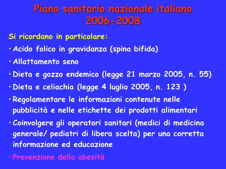 Piano sanitario nazionale italiano 2006-2008