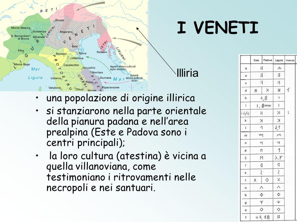 I VENETI Illiria una popolazione di origine illirica