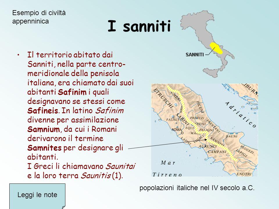 popolazioni italiche nel IV secolo a.C.