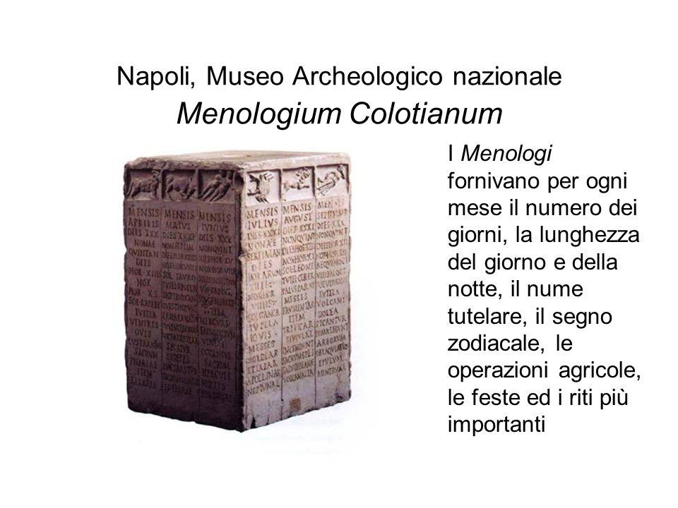 Napoli, Museo Archeologico nazionale Menologium Colotianum