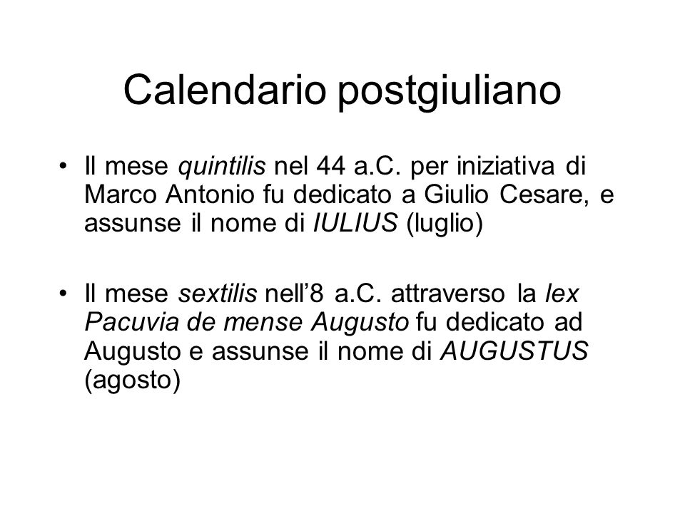 Calendario postgiuliano