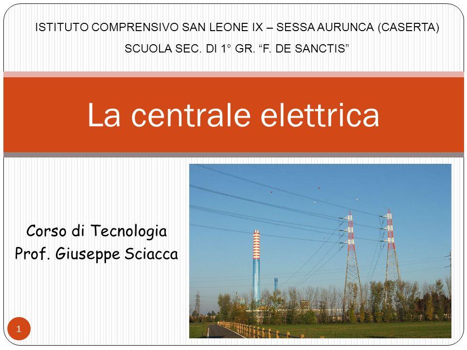 La centrale elettrica Corso di Tecnologia Prof. Giuseppe Sciacca