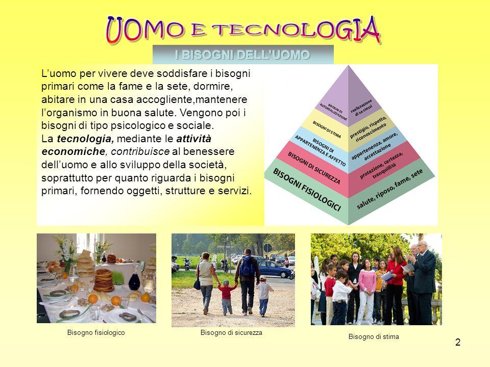UOMO E TECNOLOGIA I BISOGNI DELL'UOMO