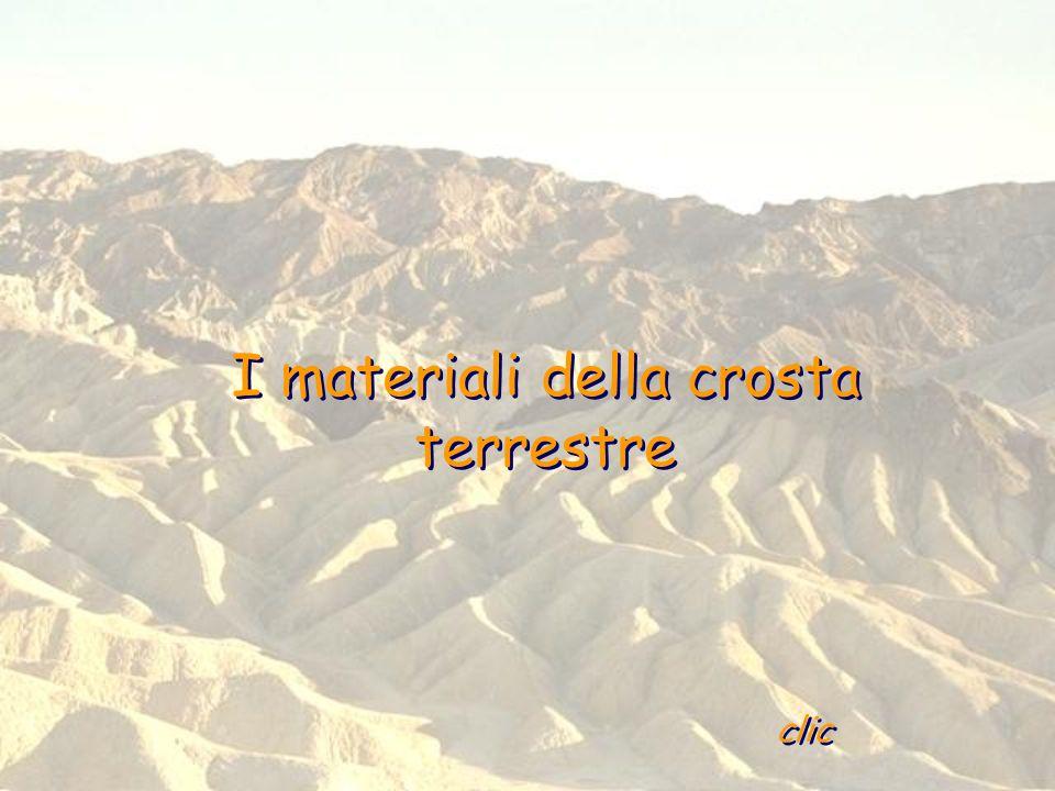 I materiali della crosta terrestre