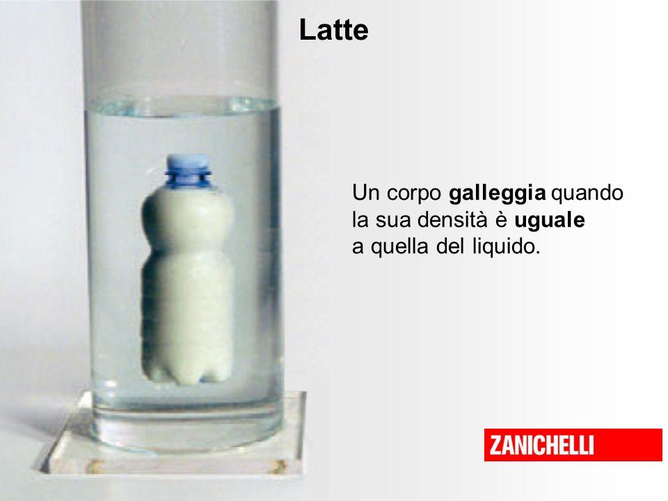 Latte Un corpo galleggia quando la sua densità è uguale