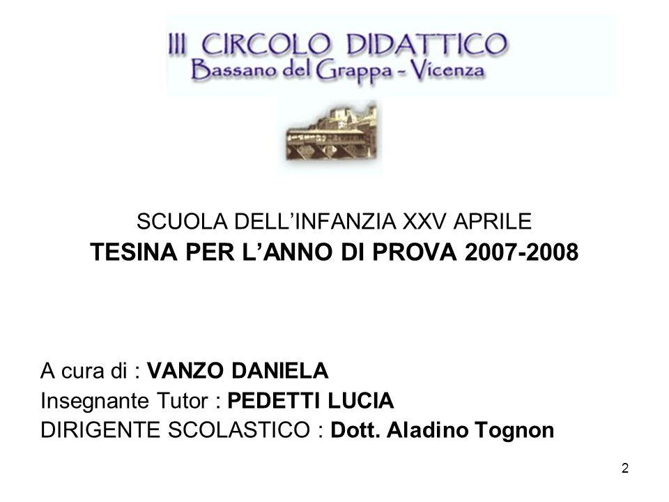 TESINA PER L'ANNO DI PROVA 2007-2008