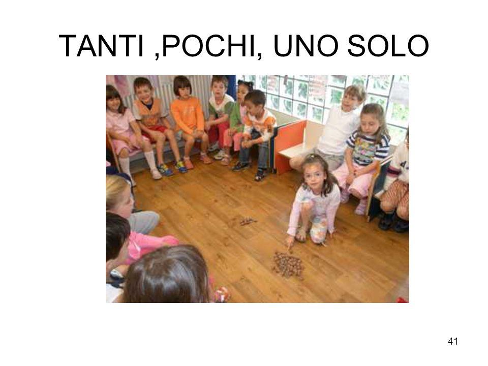 TANTI ,POCHI, UNO SOLO