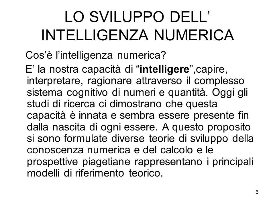 LO SVILUPPO DELL' INTELLIGENZA NUMERICA