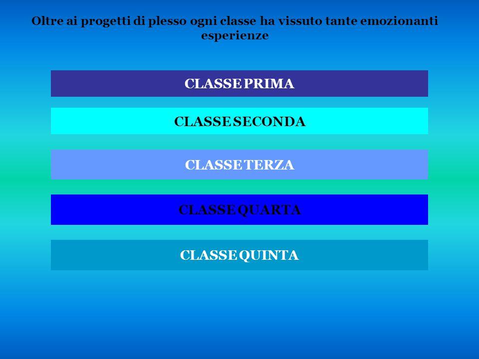 CLASSE PRIMA CLASSE SECONDA CLASSE TERZA CLASSE QUARTA CLASSE QUINTA