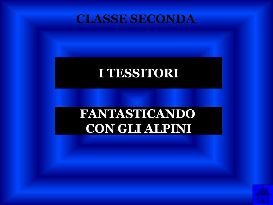 CLASSE SECONDA I TESSITORI FANTASTICANDO CON GLI ALPINI