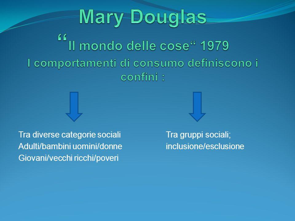 Mary Douglas Il mondo delle cose 1979 I comportamenti di consumo definiscono i confini :