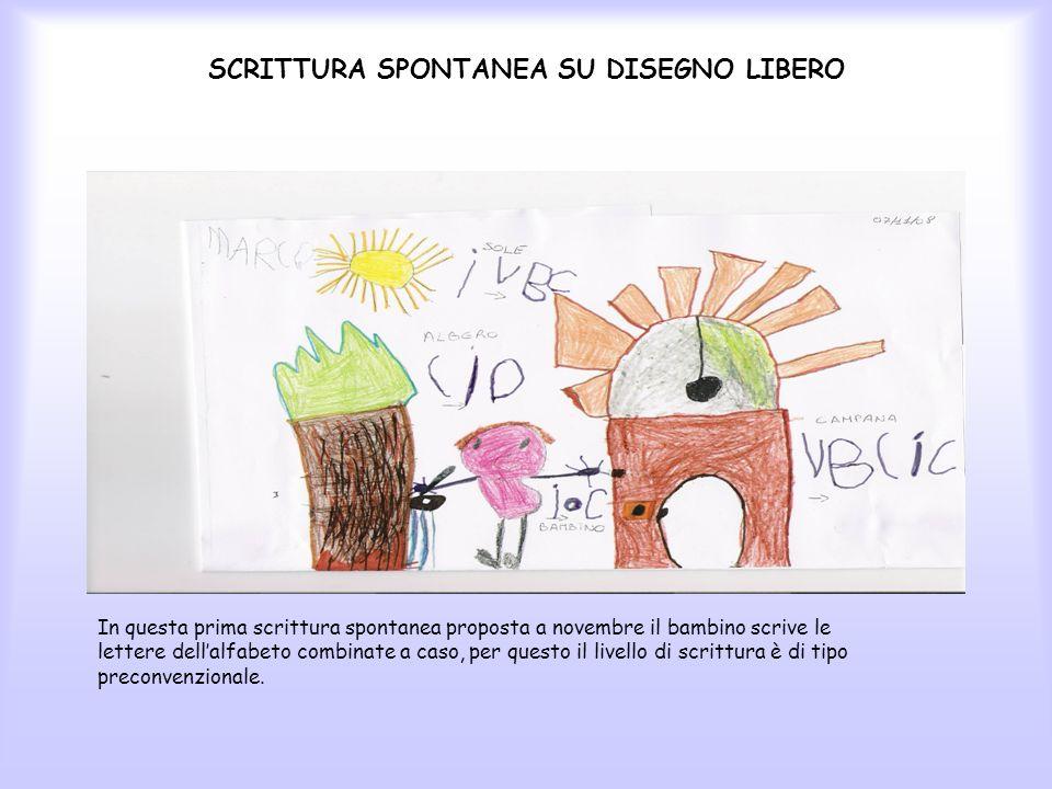 SCRITTURA SPONTANEA SU DISEGNO LIBERO