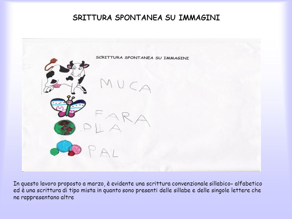 SRITTURA SPONTANEA SU IMMAGINI