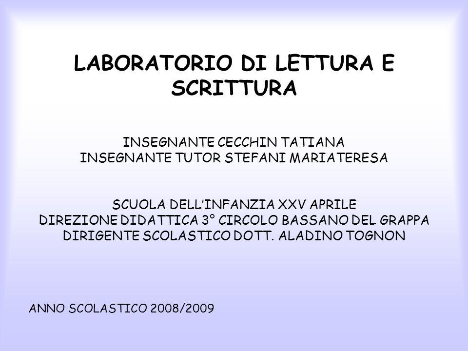 LABORATORIO DI LETTURA E SCRITTURA