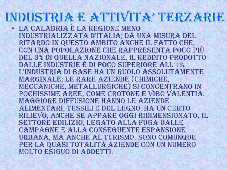 INDUSTRIA E ATTIVITA' TERZARIE