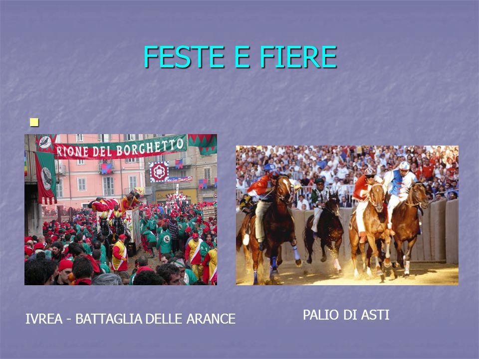 FESTE E FIERE PALIO DI ASTI IVREA - BATTAGLIA DELLE ARANCE