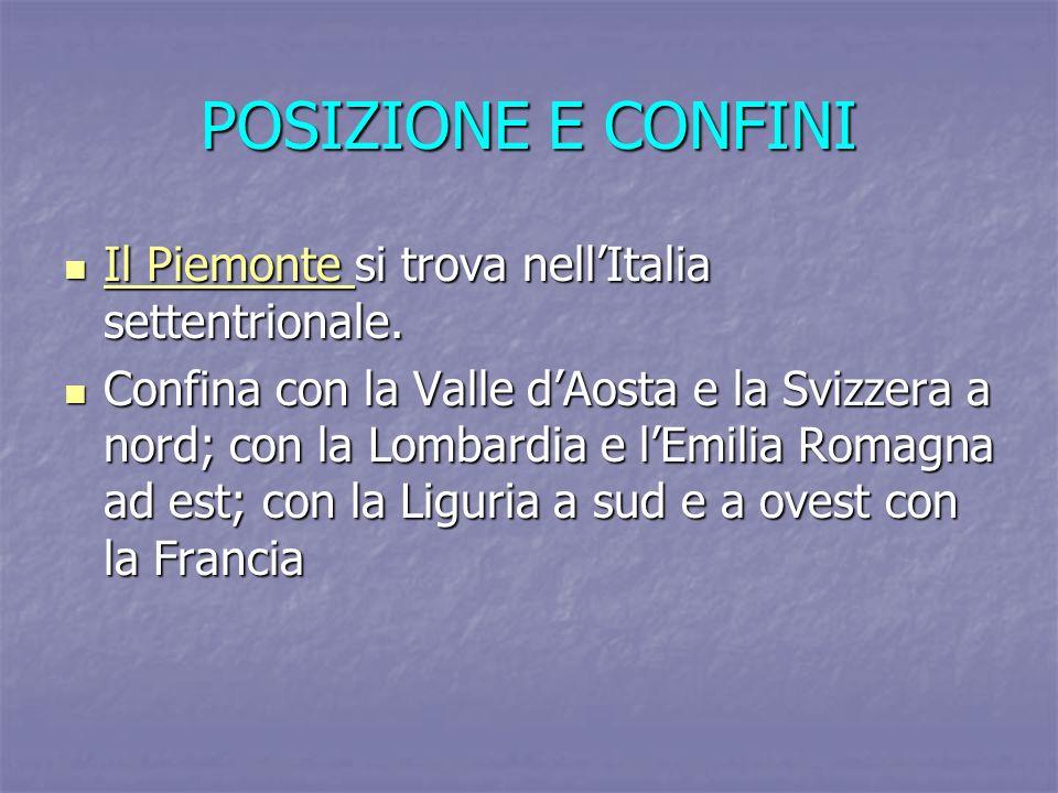 POSIZIONE E CONFINI Il Piemonte si trova nell'Italia settentrionale.