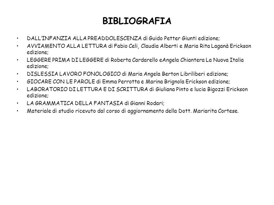 BIBLIOGRAFIA DALL'INFANZIA ALLA PREADDOLESCENZA di Guido Petter Giunti edizione;