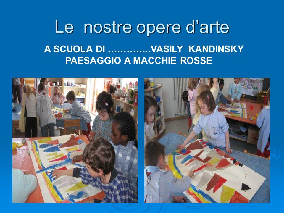 Le nostre opere d'arte A SCUOLA DI …………..VASILY KANDINSKY