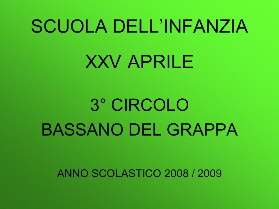 SCUOLA DELL'INFANZIA XXV APRILE 3° CIRCOLO BASSANO DEL GRAPPA