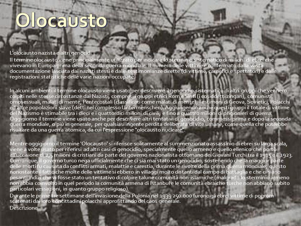 Olocausto L olocausto nazista e altri genocidi