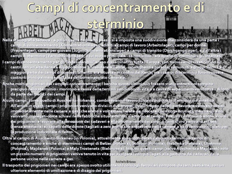 Campi di concentramento e di sterminio