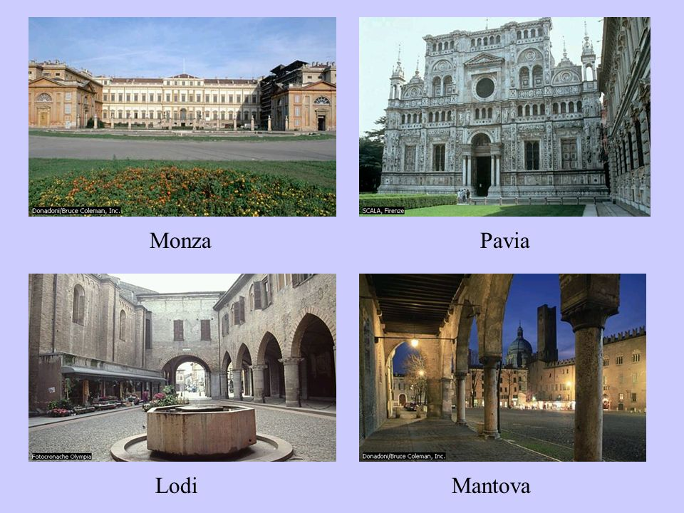 Monza Pavia Lodi Mantova