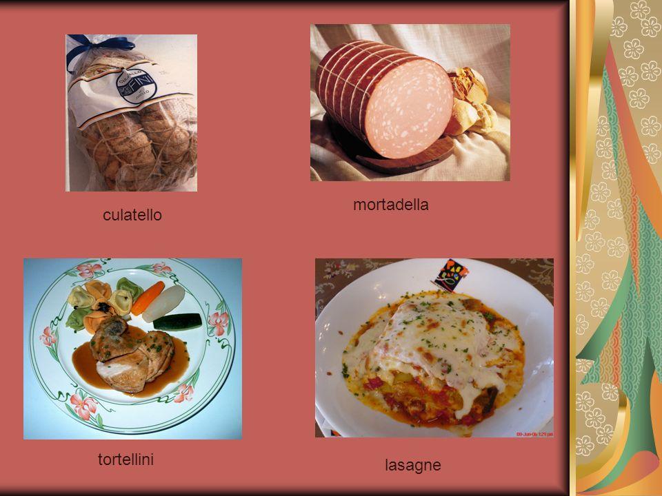 mortadella culatello tortellini lasagne